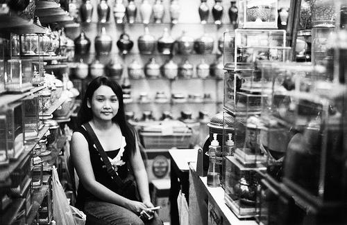Girl in Market - Bangkok, Thailand