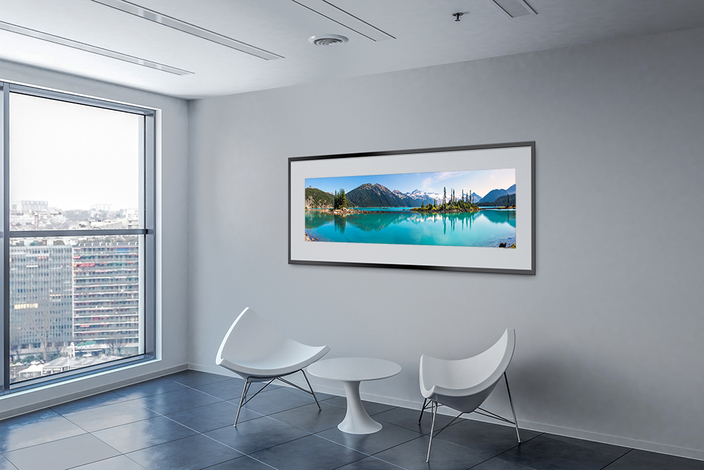 Garibaldi Lake Panoramic Print in Office