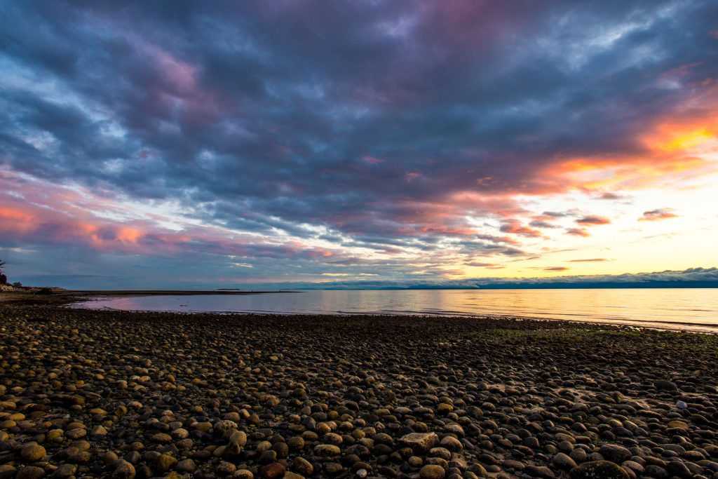 Sunset at Davis Bay