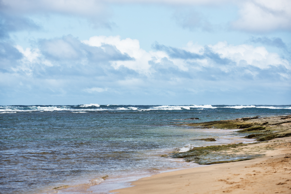 Blue Ocean at Ke'e Beach
