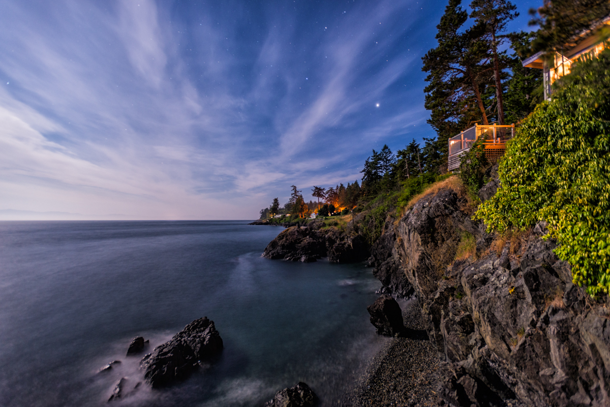 Sooke, BC at Night