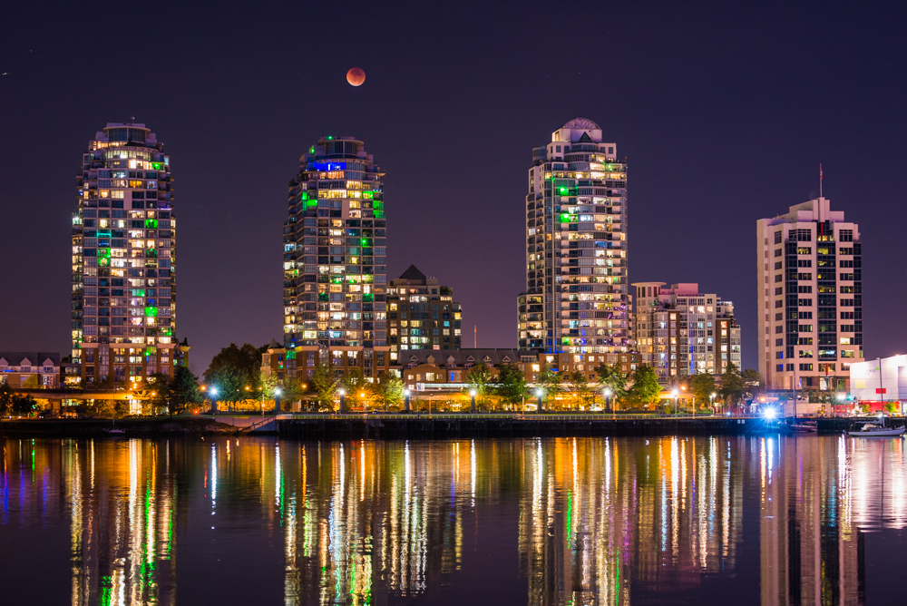 Vancouver Blood Moon Eclipse