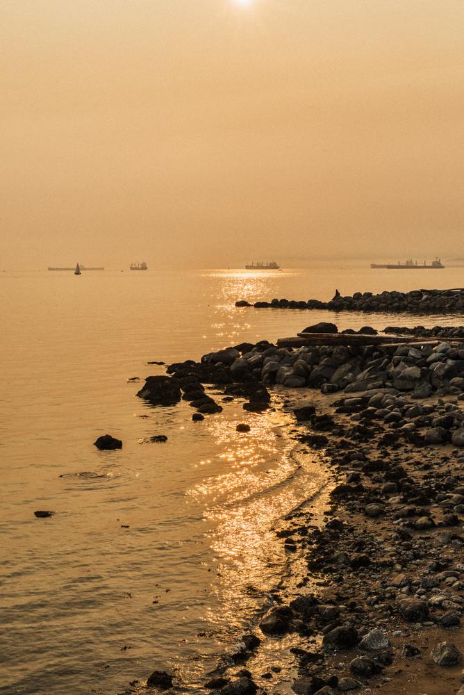 English Bay in Smoke by Jaden Nyberg
