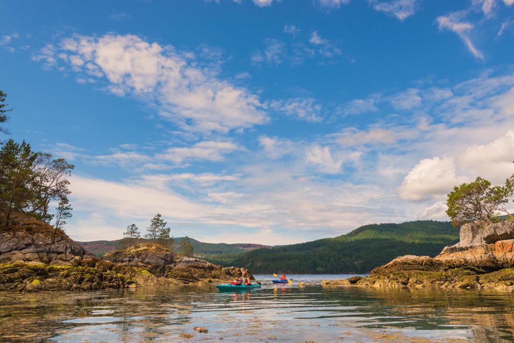 Kayaking in Sechelt Inlet by Jaden Nyberg