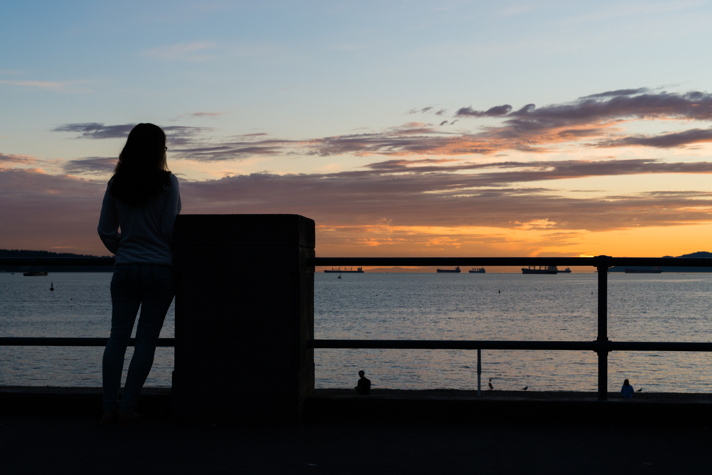 English Bay Silhouette