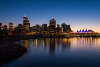 Canada Place Blue Hour