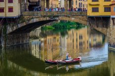 Gondola Beneath the Ponte Vecchio