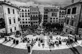 Crowds at the Spanish Steps