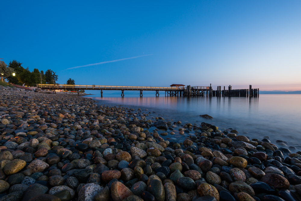 Davis Bay Pier blue hour