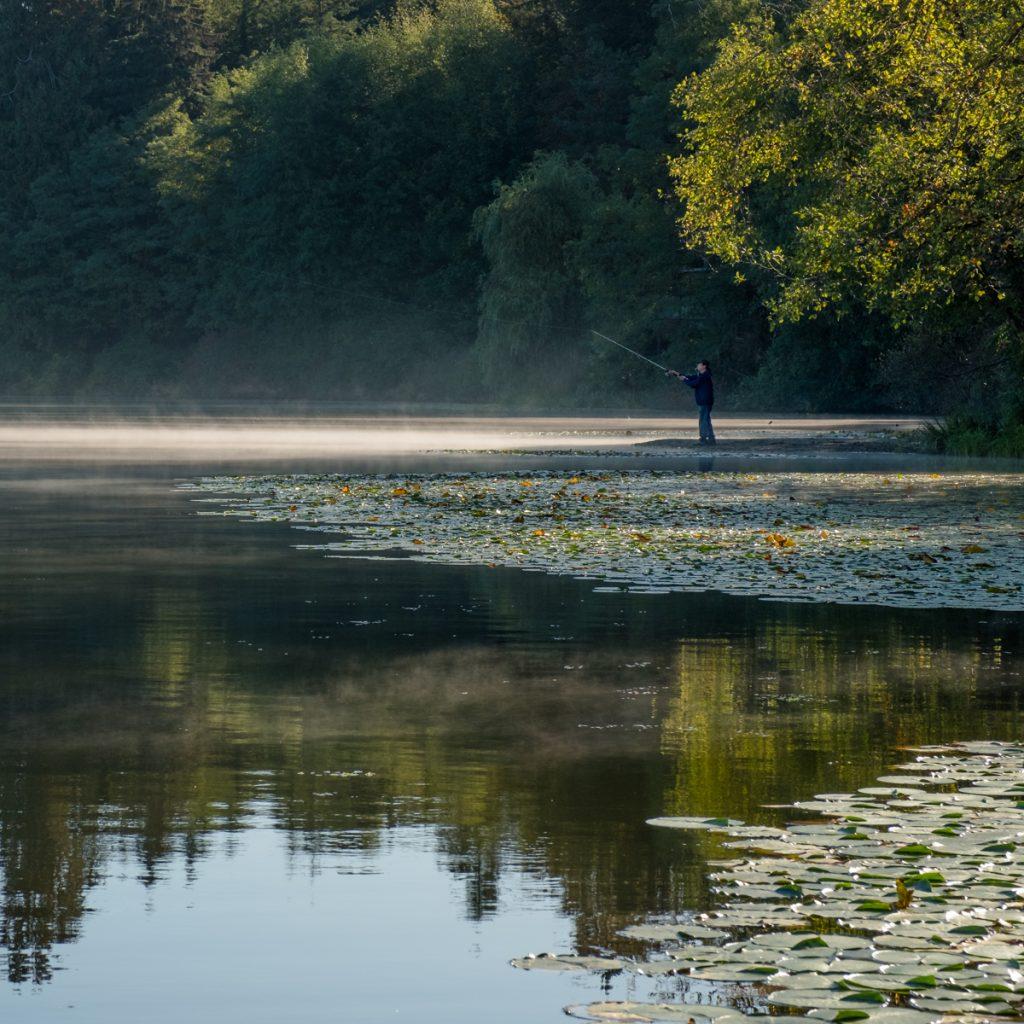 Fisherman in Deer Lake