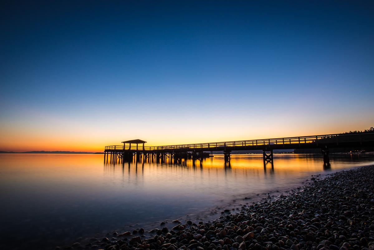 Davis Bay Pier at Dusk