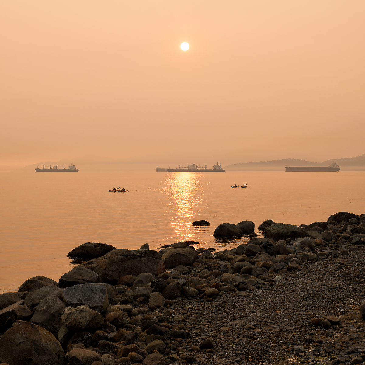 Kayakers in the Smoke
