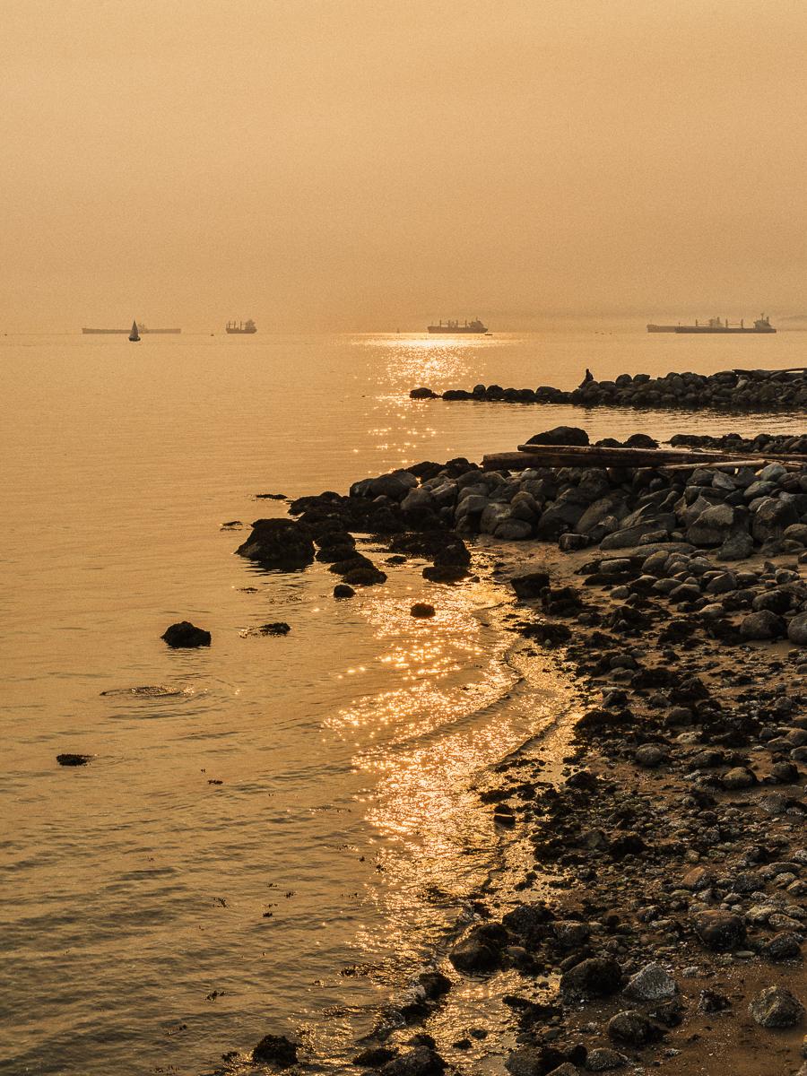 Smokey Skies in English Bay