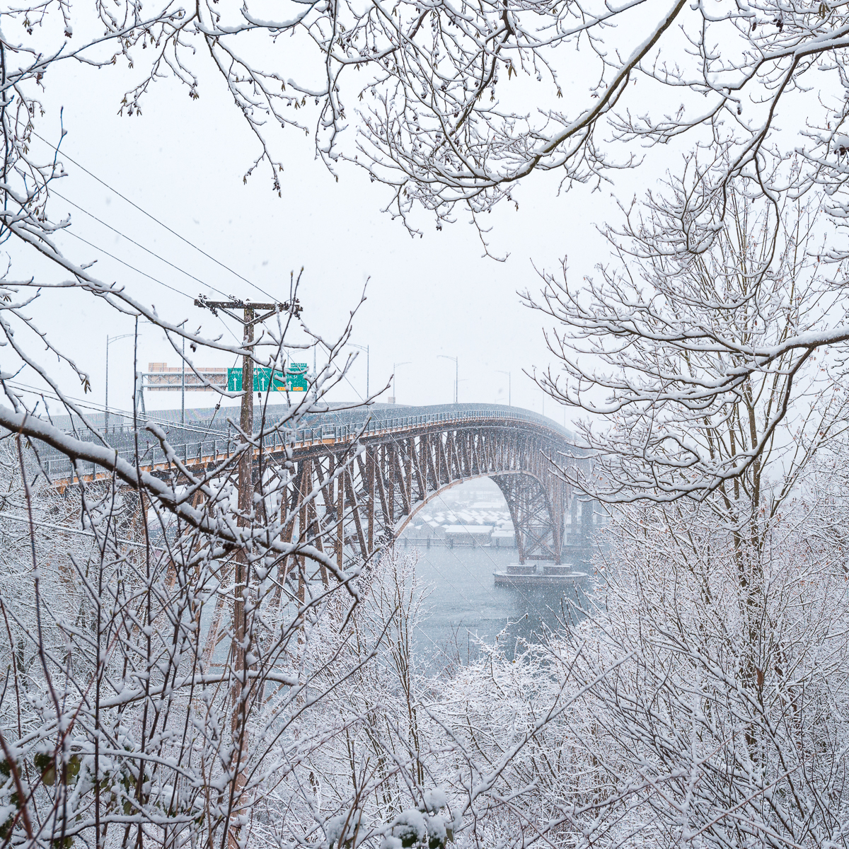 Iron Workers Memorial Bridge Snow Storm
