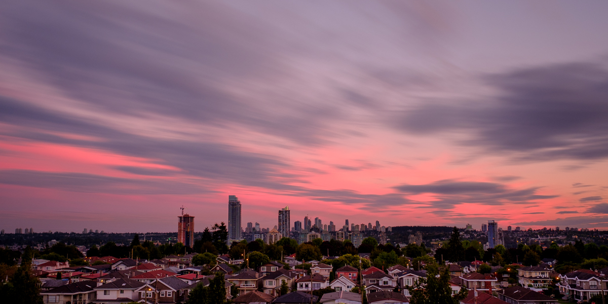 Rooftop Sunset - Burnaby, BC