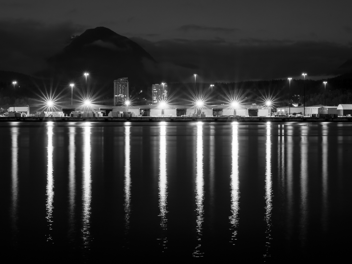 Shipyard Lights in North Vancouver, BC
