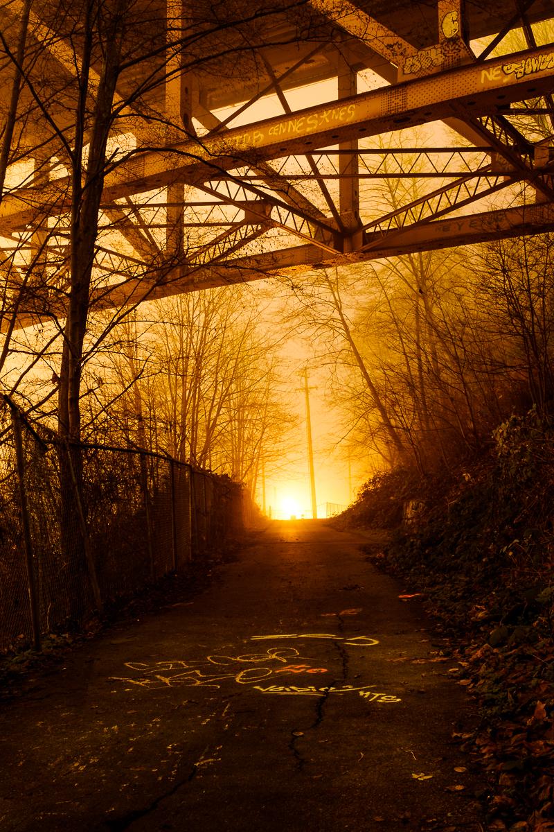 Beneath the Iron Workers Bridge