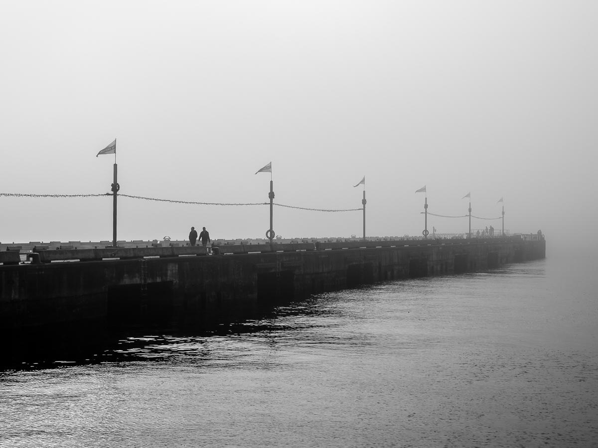 Shipyards Pier Fog North Vancouver