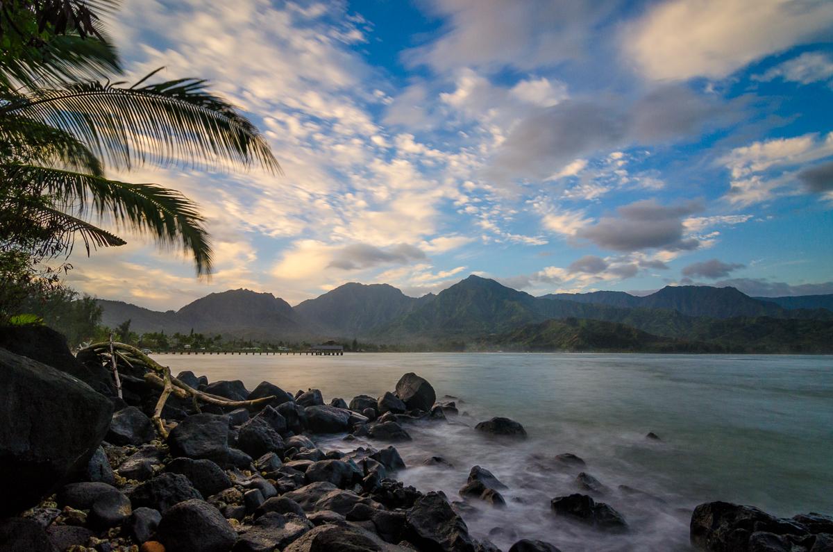 Hanalei Bay Morning Sunrise on Kauai, Hawaii